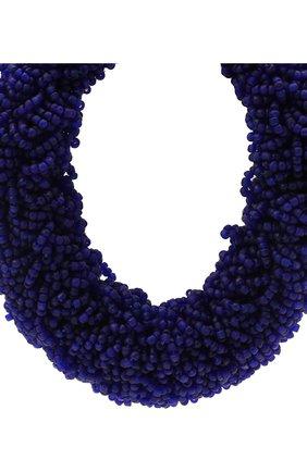 Женское колье DRIES VAN NOTEN синего цвета, арт. 211-19100-053   Фото 2