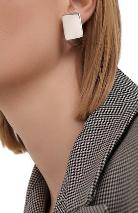 Женские серьги DRIES VAN NOTEN серебряного цвета, арт. 211-19805-059   Фото 2