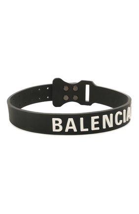 Женское чокер rubber tag BALENCIAGA черного цвета, арт. 656446/TZSIL | Фото 1