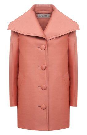 Женское шерстяное пальто LANVIN розового цвета, арт. RW-C00010-4869-E21 | Фото 1