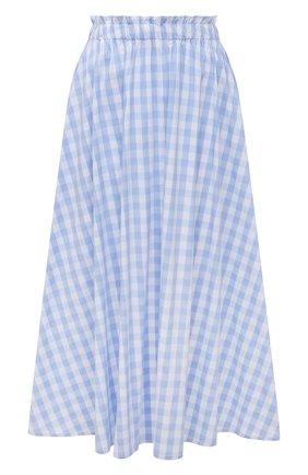 Женская хлопковая юбка PIETRO BRUNELLI голубого цвета, арт. G0W219/C0FAST/4313 | Фото 1