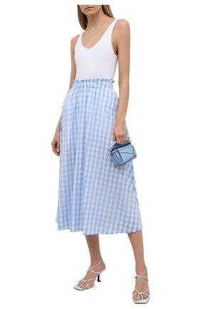 Женская хлопковая юбка PIETRO BRUNELLI голубого цвета, арт. G0W219/C0FAST/4313 | Фото 2