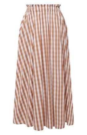 Женская хлопковая юбка PIETRO BRUNELLI бежевого цвета, арт. G0W219/C0FAST/4314 | Фото 1