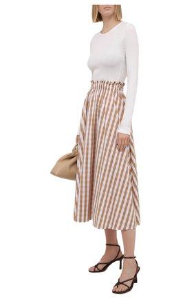 Женская хлопковая юбка PIETRO BRUNELLI бежевого цвета, арт. G0W219/C0FAST/4314 | Фото 2