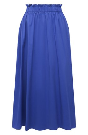 Женская хлопковая юбка PIETRO BRUNELLI синего цвета, арт. G0W219/C0P319   Фото 1