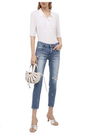 Женские джинсы MOUSSY голубого цвета, арт. 025ESC12-2550 | Фото 2