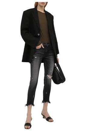 Женские джинсы MOUSSY темно-серого цвета, арт. 025ESC12-2540 | Фото 2