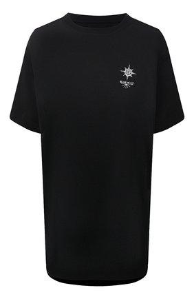 Женская хлопковая футболка GIVENCHY черного цвета, арт. BW707Z3Z5S | Фото 1