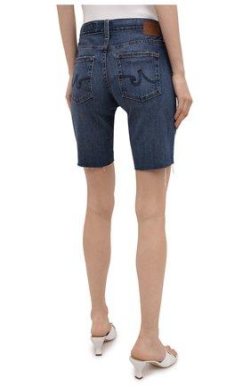 Женские джинсовые шорты AG синего цвета, арт. DAS1604RH/11YRGW/MX | Фото 4 (Женское Кросс-КТ: Шорты-одежда; Кросс-КТ: Деним; Материал внешний: Хлопок, Деним; Длина Ж (юбки, платья, шорты): До колена; Стили: Кэжуэл)