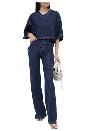 Женские джинсы BOTTEGA VENETA темно-синего цвета, арт. 654286/V0SH0 | Фото 2
