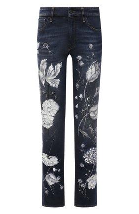Женские джинсы RALPH LAUREN темно-синего цвета, арт. 290840800 | Фото 1 (Материал внешний: Хлопок; Силуэт Ж (брюки и джинсы): Прямые; Кросс-КТ: Деним; Длина (брюки, джинсы): Стандартные; Стили: Кэжуэл)