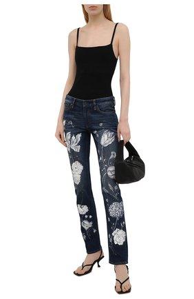Женские джинсы RALPH LAUREN темно-синего цвета, арт. 290840800 | Фото 2 (Материал внешний: Хлопок; Силуэт Ж (брюки и джинсы): Прямые; Кросс-КТ: Деним; Длина (брюки, джинсы): Стандартные; Стили: Кэжуэл)
