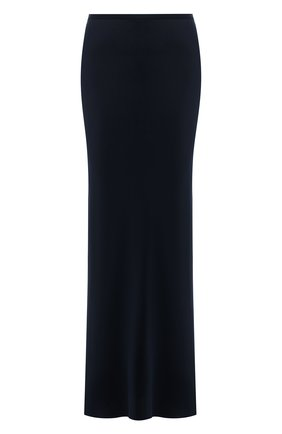 Женская шелковая юбка GIORGIO ARMANI темно-синего цвета, арт. 1WHNN051/T02MU   Фото 1