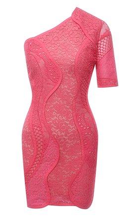 Женское хлопковое платье STELLA MCCARTNEY розового цвета, арт. 603198/SLA02 | Фото 1 (Длина Ж (юбки, платья, шорты): Мини; Случай: Коктейльный; Материал внешний: Хлопок; Стили: Романтичный; Материал подклада: Шелк; Женское Кросс-КТ: Платье-одежда; Рукава: Короткие)