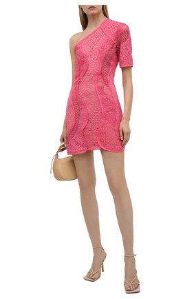 Женское хлопковое платье STELLA MCCARTNEY розового цвета, арт. 603198/SLA02 | Фото 2 (Длина Ж (юбки, платья, шорты): Мини; Случай: Коктейльный; Материал внешний: Хлопок; Стили: Романтичный; Материал подклада: Шелк; Женское Кросс-КТ: Платье-одежда; Рукава: Короткие)