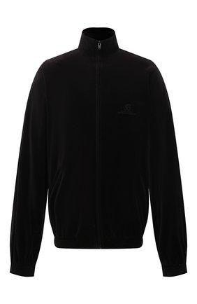 Женская хлопковая куртка BALENCIAGA черного цвета, арт. 659098/TKQ12 | Фото 1