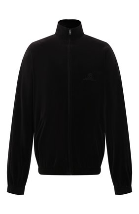Мужская хлопковая куртка BALENCIAGA черного цвета, арт. 659098/TKQ12   Фото 1 (Кросс-КТ: Куртка, Ветровка; Длина (верхняя одежда): До середины бедра; Материал внешний: Хлопок; Материал подклада: Хлопок, Синтетический материал; Стили: Спорт-шик; Рукава: Длинные)