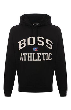 Мужской хлопковое худи boss x russell athletic BOSS черного цвета, арт. 50455955 | Фото 1