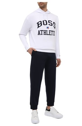Мужской хлопковое худи boss x russell athletic BOSS белого цвета, арт. 50455955   Фото 2