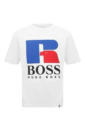 Мужская хлопковая футболка boss x russell athletic BOSS белого цвета, арт. 50457636 | Фото 1