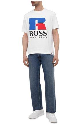 Мужская хлопковая футболка boss x russell athletic BOSS белого цвета, арт. 50457636 | Фото 2
