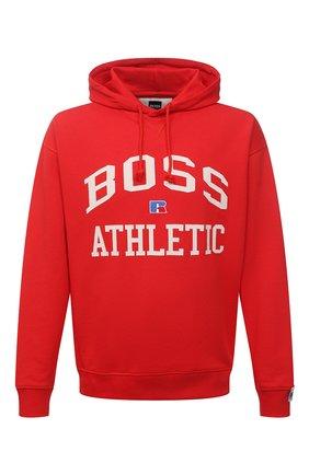 Мужской хлопковое худи boss x russell athletic BOSS красного цвета, арт. 50455955 | Фото 1