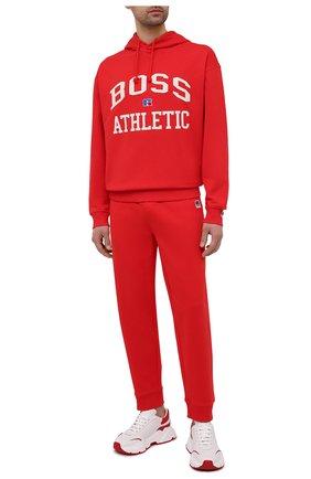Мужской хлопковое худи boss x russell athletic BOSS красного цвета, арт. 50455955 | Фото 2