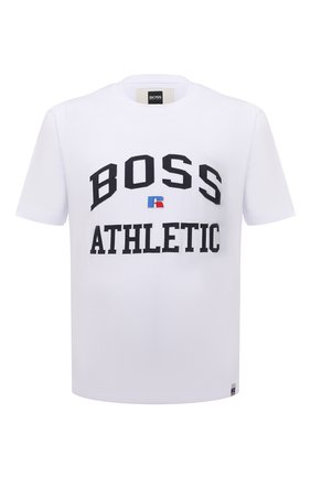 Мужская хлопковая футболка boss x russell athletic BOSS белого цвета, арт. 50457336 | Фото 1