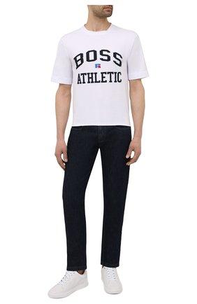 Мужская хлопковая футболка boss x russell athletic BOSS белого цвета, арт. 50457336 | Фото 2