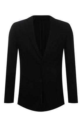 Мужской шерстяной пиджак BOSS черного цвета, арт. 50453708 | Фото 1 (Случай: Повседневный; Пиджаки М: Приталенный; Материал внешний: Шерсть; Рукава: Длинные; Длина (для топов): Стандартные; 1-2-бортные: Однобортные)