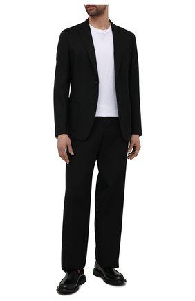 Мужской шерстяной пиджак BOSS черного цвета, арт. 50453708 | Фото 2 (Случай: Повседневный; Пиджаки М: Приталенный; Материал внешний: Шерсть; Рукава: Длинные; Длина (для топов): Стандартные; 1-2-бортные: Однобортные)
