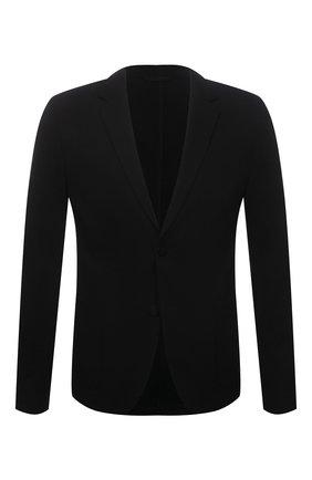 Мужской пиджак HUGO черного цвета, арт. 50454551 | Фото 1 (Случай: Повседневный; Рукава: Длинные; Пиджаки М: Прямой; Материал внешний: Вискоза, Синтетический материал; Длина (для топов): Стандартные)