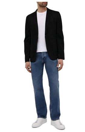 Мужской пиджак HUGO черного цвета, арт. 50454551 | Фото 2 (Случай: Повседневный; Рукава: Длинные; Пиджаки М: Прямой; Материал внешний: Вискоза, Синтетический материал; Длина (для топов): Стандартные)