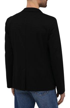 Мужской пиджак HUGO черного цвета, арт. 50454551   Фото 4 (Рукава: Длинные; Случай: Повседневный; Материал внешний: Синтетический материал, Вискоза; Длина (для топов): Стандартные; Пиджаки М: Прямой)