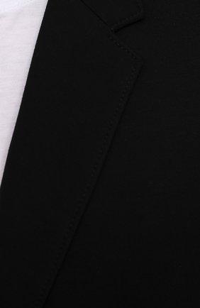Мужской пиджак HUGO черного цвета, арт. 50454551   Фото 5 (Рукава: Длинные; Случай: Повседневный; Материал внешний: Синтетический материал, Вискоза; Длина (для топов): Стандартные; Пиджаки М: Прямой)