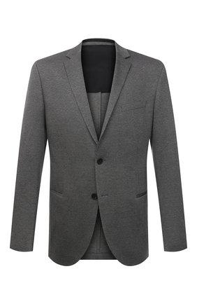 Мужской пиджак BOSS серого цвета, арт. 50453786 | Фото 1