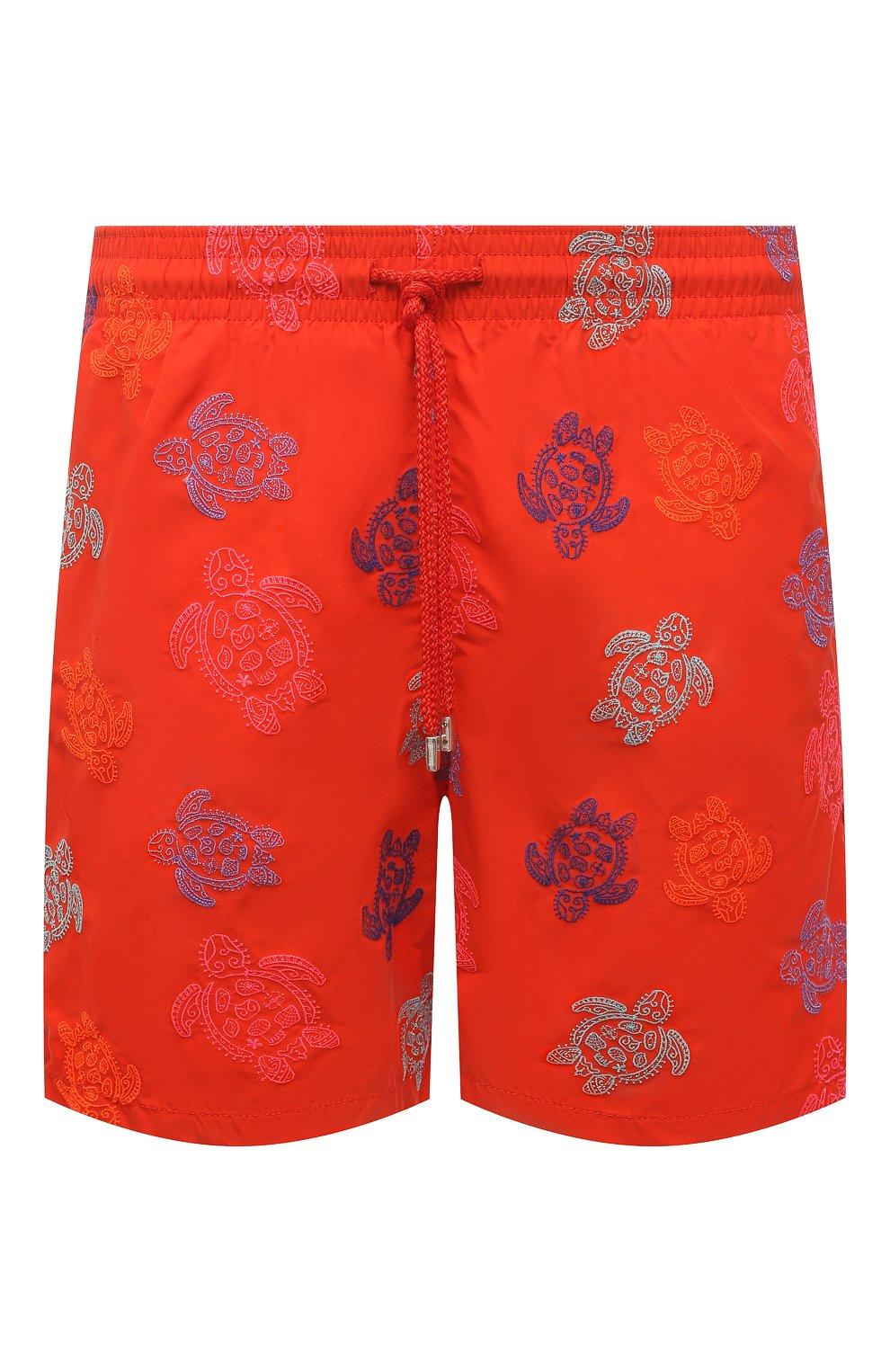 Мужские плавки-шорты VILEBREQUIN красного цвета, арт. MISH0C36/193 | Фото 1 (Материал внешний: Синтетический материал; Принт: С принтом; Мужское Кросс-КТ: плавки-шорты)