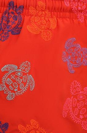 Мужские плавки-шорты VILEBREQUIN красного цвета, арт. MISH0C36/193 | Фото 5 (Материал внешний: Синтетический материал; Принт: С принтом; Мужское Кросс-КТ: плавки-шорты)