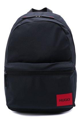 Мужской текстильный рюкзак HUGO темно-синего цвета, арт. 50455562 | Фото 1