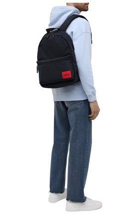 Мужской текстильный рюкзак HUGO темно-синего цвета, арт. 50455562 | Фото 2