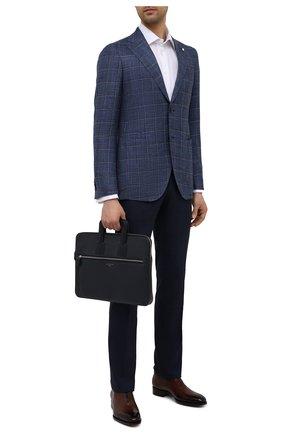 Мужская кожаная сумка для ноутбука ASPINAL OF LONDON темно-синего цвета, арт. 011-1289_13990000 | Фото 2