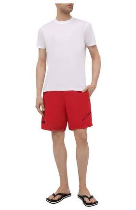 Мужские плавки-шорты STONE ISLAND SHADOW PROJECT красного цвета, арт. 7419B0105   Фото 2
