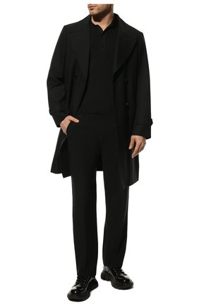 Мужские кожаные ботинки ALEXANDER MCQUEEN черного цвета, арт. 604253/WHZ80 | Фото 2