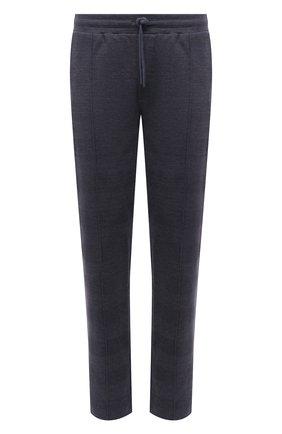 Мужские хлопковые брюки HANRO темно-синего цвета, арт. 075164 | Фото 1 (Кросс-КТ: Спорт; Стили: Спорт-шик; Длина (брюки, джинсы): Стандартные; Случай: Повседневный; Материал внешний: Хлопок; Мужское Кросс-КТ: Брюки-трикотаж)