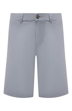 Мужские хлопковые шорты 7 FOR ALL MANKIND серо-голубого цвета, арт. JSWUV790RB | Фото 1