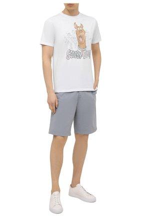 Мужские хлопковые шорты 7 FOR ALL MANKIND серо-голубого цвета, арт. JSWUV790RB | Фото 2