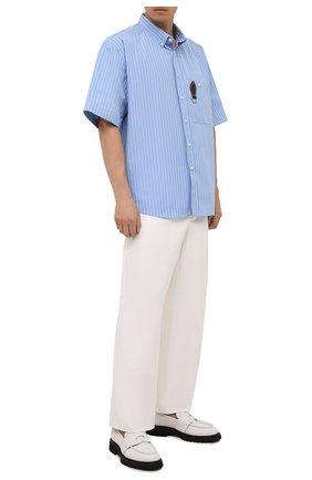Мужские кожаные пенни-лоферы ATTIMONELLI'S белого цвета, арт. AA559V | Фото 2