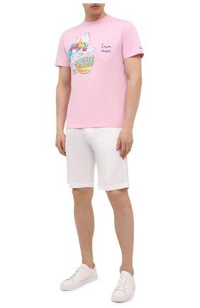 Мужская хлопковая футболка MC2 SAINT BARTH розового цвета, арт. STBM AUSTIN/AUS0001 | Фото 2