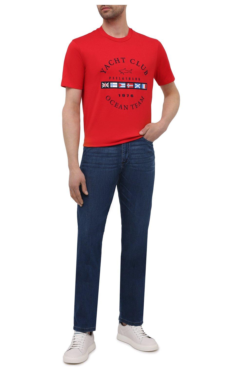 Мужские джинсы PAUL&SHARK синего цвета, арт. 21414196R/DUI | Фото 2