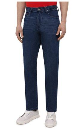 Мужские джинсы PAUL&SHARK синего цвета, арт. 21414196R/DUI | Фото 3
